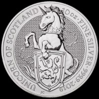 "10 oz Silber Royal Mint / Queen's Beast "" Unicorn of Scotland "" in Kapsel ( diff.besteuert nach §25a UStG )"