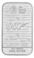 1 oz Silber Barren The Royal Mint James Bond  - max. 70.000  - ( inkl. gültiger gesetzl. Mwst )