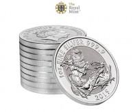 "10 X 1 oz Silber Royal Mint  "" Valiant / Tapferkeit 2019 - 2te Ausgabe "" in Kapsel & Folie ( diff.besteuert nach §25a UStG )"