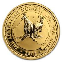 1 oz Gold Känguru 2002 in Kapsel