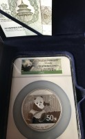 5 oz Silber Panda 2014 Proof in Slab PF69 Ultra Cameo ( diff.besteuert nach §25a UStG )