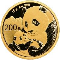 15 Gramm Gold Panda 2019 in Folie - 200 Yuan