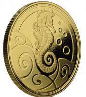 1 oz Gold Proof Samoa Seahorse - 1te Ausgabe ( max 100 Stk )