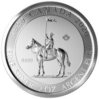 """2 oz Silber Royal Canadian Mint """" 100 Jahre Mounty / Mounted Police double dated ( diff.besteuert nach §25a UStG )"""
