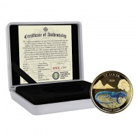 1 oz Gold Proof-colored St. Lucia Whiptail Lizard 2020 Scottsdale Mint / in Box ( Auflage 100 )