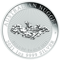 "1 oz Silber Perth Mint "" Nugget "" - Golden Eagle 2021"