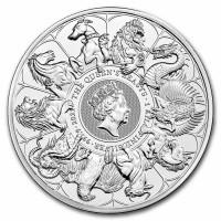 1 Kilogramm / 1000 Gramm Silber Queen's Beast Completer Coin / Complete Collection - LZ Ende 08 ( diff.besteuert nach §25a UStG )