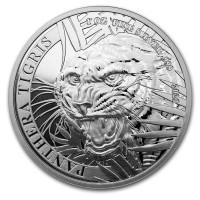 1 oz Silber Laos Tiger 2021 ( Panthera Tigris ) zweite Ausgabe  - max 10.000 ( diff.besteuert nach §25a UStG )