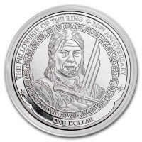 1 oz Silber New Zealand 20th Anniversary Herr der Ringe / Boromir - max 10.000 ( diff.besteuert nach §25a UStG )