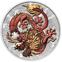 1 oz Silber Perth Mint Colored Dragon 2021 - 1te Ausgabe Chinese Myths and Legends series - max 4.000 ( diff.besteuert nach §25a UStG )
