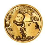 3 Gramm Gold Panda 2021 in Folie - 50 Yuan