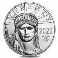 1 oz Platin Eagle USA 2021 ( diff.besteuert nach §25a UStG )