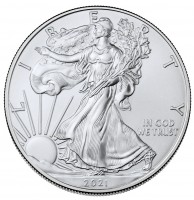 "1 oz Silber Eagle 2021 USA "" 1te Version 2021 "" ( diff.besteuert nach §25a UStG )"