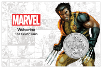 "1 oz Silber Perth Mint "" Wolverine - Marvel Comics "" - Coincard max. 1000 ( diff.besteuert nach §25a UStG )"
