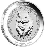 1 oz Silber Perth Mint 2021 Wombat in Kapsel - max 25.000 ( diff.besteuert nach §25a UStG )