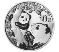 30 Gramm Silber China Panda 2021 ( diff.besteuert nach §25a UStG )