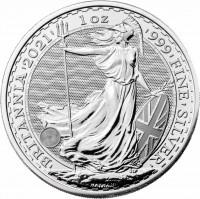 1 oz Silber Britannia 2021 / LZ Mitte / Ende März ( diff.besteuert nach §25a UStG )
