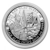 1 oz Silber Perth Mint Black Flag Series - THE RED FLAG FLEET ( diff.besteuert nach §25a UStG )