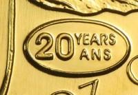 "1/4 oz Gold Maple Leaf 1999 "" 20 years "" - in Folie"