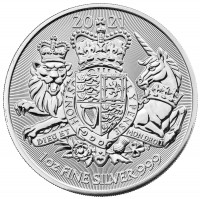 "1 oz Silber Royal Mint "" Royal Arms 2021 "" ( diff.besteuert nach §25a UStG )"