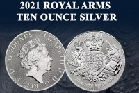 10 oz Silber Royal Mint Royal Arms 2021 in Kapsel ( diff.besteuert nach §25a UStG )
