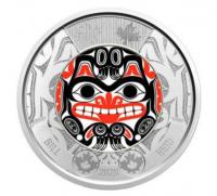 2 CAD Bill Reid Colour Haida Mask ( inkl. gültiger Mwst )