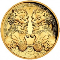 2 oz Gold Guardian Lions High Relief Proof inkl. Box / COA - max 250 Stk