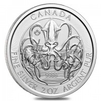 "2 oz Silber Royal Canadian Mint Kraken / Krake 2020 "" Creatures of the North "" ( diff.besteuert nach §25a UStG )"