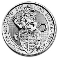 "2 oz Silber Royal Mint / United Kingdom "" Lion of England "" ( diff.besteuert nach §25a UStG )"