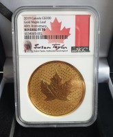 2 oz Gold Maple Leaf 2019 PF70 in Slab + 2 Boxen + COA - max 150 Stk