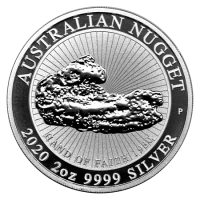 "2 oz Silber Perth Mint "" Nugget 2020 / Hand of faith ""  - max. 10.000 ( diff.besteuert nach §25a UStG )"