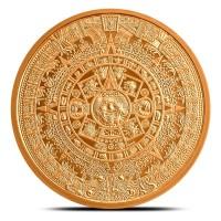 2 oz Fine Copper / Kupfer Aztec Calendar ( inkl. 19 % Mwst )