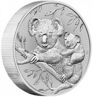 2 oz Silber Perth Mint Piedfort Koala with baby 2018 ' Next Generation Series - max. 75.000 '  ( diff.besteuert nach §25a UStG )