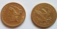5 Dollar USA Liberty / Frauenkopf 1881 (7,53 Gramm Gold fein)