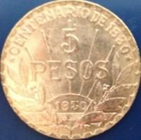 5 Peso Gold Uruguay - 1/4 oz Gold ( 7,78 Gramm Gold fein )