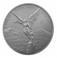 5 oz Silber Libertad Mexiko 2018/2019 Antiqued Finish in Kapsel ( max 1.000 ) ( diff.besteuert nach §25a UStG )