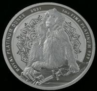 "1 oz Platin Royal Platinum Ounce Gibraltar "" Berberaffe 2021 "" Double sealed  - max 100 Mintage ( inkl. gesetzl. Mwst )"