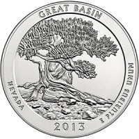 "5 oz Silber USA "" America the beautiful "" Nevada - Great Basin National Park ( diff.besteuert nach §25a UStG )"