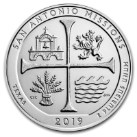 "5 oz Silber USA "" America the beautiful "" San Antonio Missions - Texas ( diff.besteuert nach §25a UStG )"