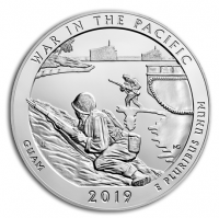 "5 oz Silber USA "" America the beautiful "" War in the Pacific - Guam ( diff.besteuert nach §25a UStG )"