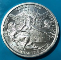 "1 oz Silber "" Remember the Alamo ""  ( 19% Mwst )"