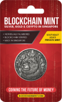 1 oz Silber Antique Finish Dogecoins / Blockchainmint Singapore - max 1.000 ( inkl. gültiger gesetzl. Mwst )