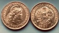 5 Peso Argentinien Gold 1881-1896 ( 0.2334 oz = 7,26 Gramm Gold fein )