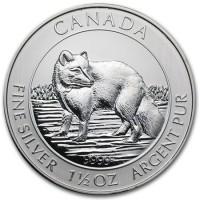 1,5 oz Silber Canada Polarfuchs ( diff.besteuert nach §25a UStG )