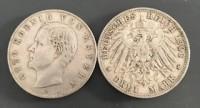 3 Mark Bayern Otto 1908 - 1913  ( diff.besteuert nach §25a UStG )