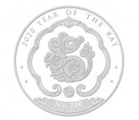 """1 oz Silber Bhutan """" Maus / Mouse 2020  """"  ( diff.besteuert nach §25a UStG )"""