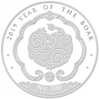 "1 oz Silber Bhutan "" Pig / Boar  ""  ( diff.besteuert nach §25a UStG ) - LZ Mitte Nov"