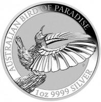 1 oz Silber Australian Birds of Paradies 2018 in Kapsel ( diff.besteuert nach §25a UStG )