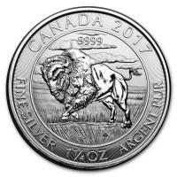 """1,25 oz Silber Canada Wildlife """" Bison """" 2017 - 8 Dollar ( diff.besteuert nach §25a UStG )"""