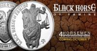 1 oz Silber Four Horsemen of the Apocalypse - Black Horse of Famine ( 3te Ausgabe ) ( 19% Mwst )